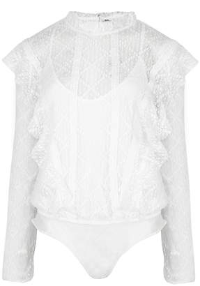 Free People Goldie White Lace Bodysuit