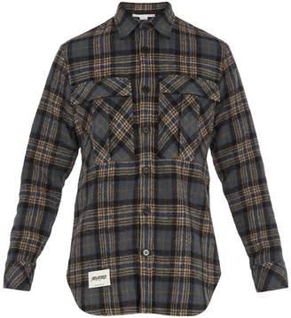 Stella McCartney Patch-pocket checked wool shirt