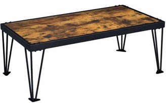 Furniture of America Duvall Industrial Coffee Table, Black