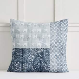 Pottery Barn Teen Lily Ashwell Denim Patchwork Quilt, Euro, Blue Multi
