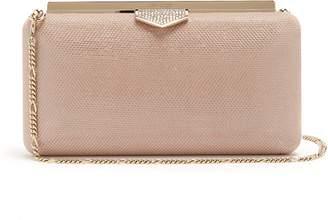 Jimmy Choo Ellipse crystal-embellished clutch bag