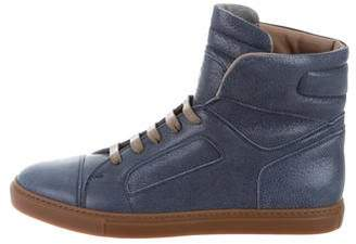 Brunello Cucinelli Cap-Toe High-Top Sneakers w/ Tags