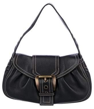 Celine Pleated Leather Shoulder Bag