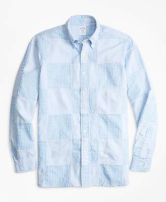 Brooks Brothers Regent Fit Patchwork Seersucker Sport Shirt
