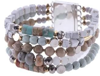 Nakamol Design Amazonite, Agate & Crystal Multistrand Stretch Bracelet
