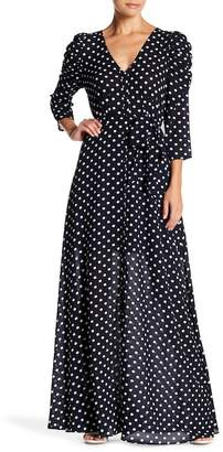 Lucy Paris Polka Dot Maxi Dress