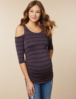Jessica Simpson Motherhood Maternity Cold Shoulder Maternity Top