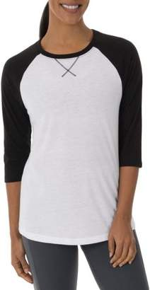 Athletic Works Women's Core Active Baseball T-Shirt