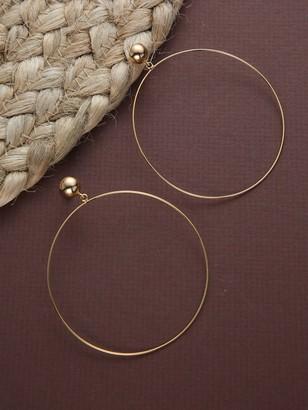 Shein Thin Dainty Large Gold Hoop Earrings