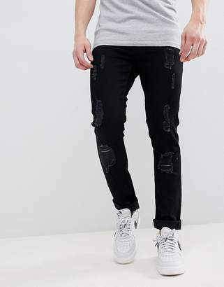 Voi Jeans Skinny Fit Jeans in Ripped