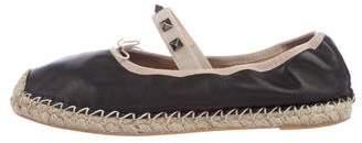 Valentino Rockstud. Leather Espadrilles