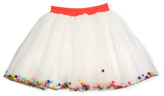 Billieblush Tulle Pompom & Sequin Skirt, Size 4-8