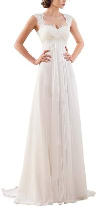 Erosebridal 2017 New Sleeveless Lace Chiffon Wedding Dress Bridal Gown