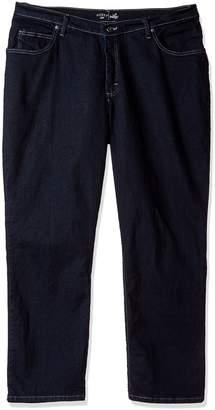 Lee Indigo Women's Petite Plus Joanna Classic 5 Pocket Jean