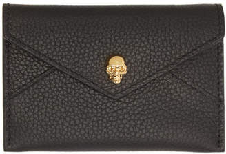Alexander McQueen Black and Gold Envelope Card Holder