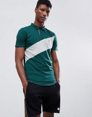 Le Breve Sports Stripe Polo Shirt