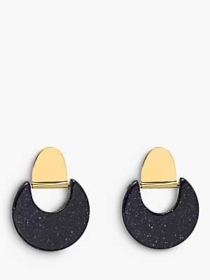 Lola Rose Ezra Circle Drop Earrings, Blue Sandstone
