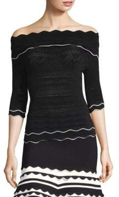Yigal Azrouel Scallop Trim Off-The-Shoulder Top