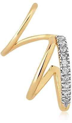 14kt Gold Furry Twirl Mono Earring