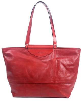 Old Trend Holly Leaf Leather Tote Bag