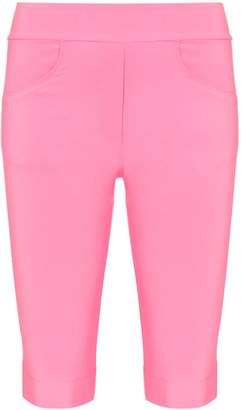 Michael Lo Sordo High-waisted pocketed knee-length shorts