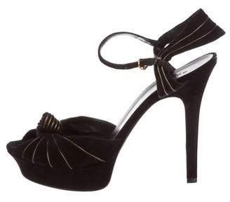 Gucci Knotted Platform Sandals