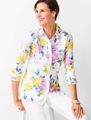 Talbots Classic Cotton Shirt - Floral Bouquet