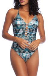 La Blanca Plunge One-Piece Swimsuit