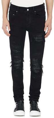 AMIRI Men's MX1 Leather-Inset Slim Jeans $1,040 thestylecure.com