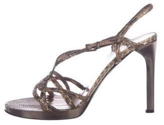 Valentino Snakeskin Strap Sandals