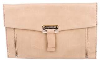 Jimmy Choo Leather Flap Clutch