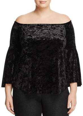 Love Ady Plus Crushed Velvet Off-the-Shoulder Top - 100% Exclusive