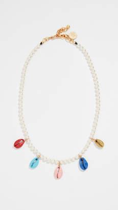 Venessa Arizaga Rainbow Shell Swarovski Crystal Pearl Necklace