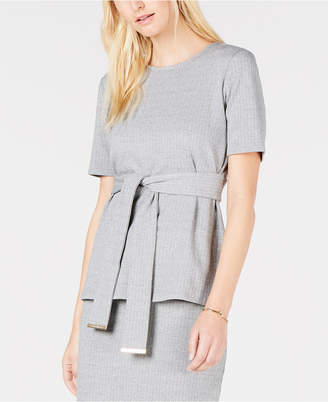 Tommy Hilfiger Front-Wrap Short-Sleeve Top
