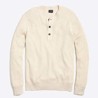 J.Crew Factory Cotton ribbed henley