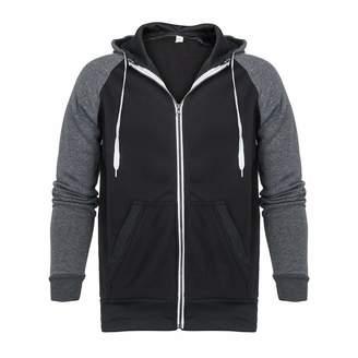 Mens Hoodies Pervobs Men Coat Long Sleeve Zipper Up Splicing Hooded Pullover Sweatshirt Blouse