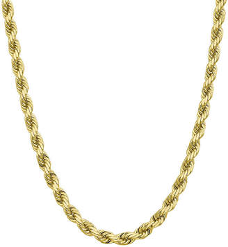 FINE JEWELRY 10K Gold Solid Rope Chain Necklace