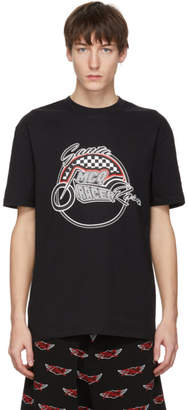 McQ Black Racing Dropped Shoulder T-Shirt