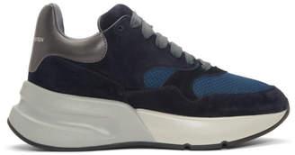 Alexander McQueen Navy and Indigo Oversized Runner Sneakers