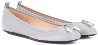 Tod's Laccetto patent leather ballerinas