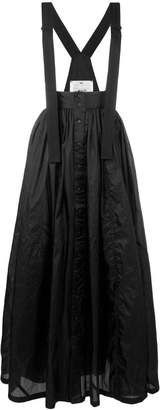 Y-3 long pleated skirt