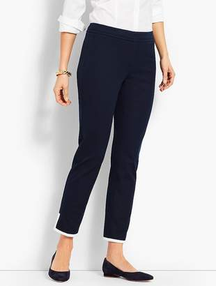 Talbots Tipped Bi-Stretch Slim Ankle Pant