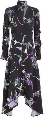 La DoubleJ Martha Crepe Long Sleeve Dress