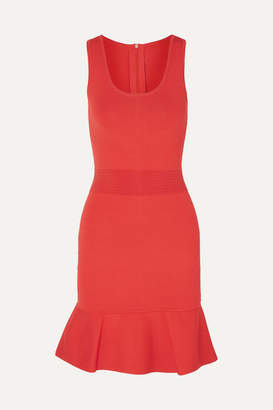 MICHAEL Michael Kors Fluted Stretch-knit Mini Dress - Brick