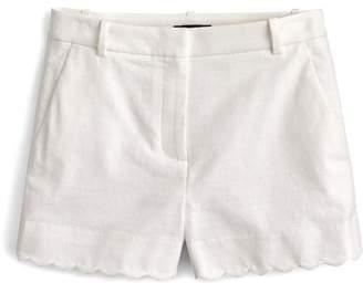 J.Crew J. Crew Fiesta Scallop Hem Stretch Cotton Shorts