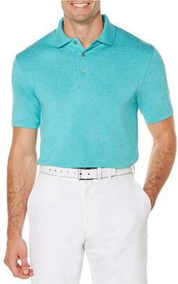 PGA Tour TOUR Short Sleeve Heathered Polo Shirt