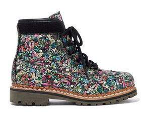 Tabitha Simmons Printed Leather Ankle Boots