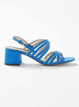 Miss Selfridge SARA Bright Blue Multi Strap Heeled Sandals
