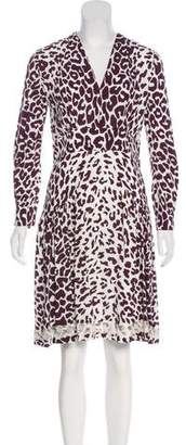 Miu Miu Crepe Printed Dress