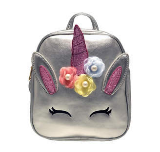 Doe A Dear Unicorn Foil Backpack With Flower Applique